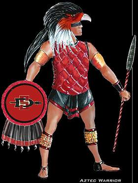 San Diego State Mascot http://advancedmascotology.com/completed-team-pages/san-diego-state-aztecs/
